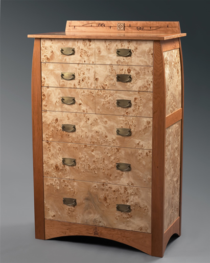 Rose & Stem Chest of Drawers