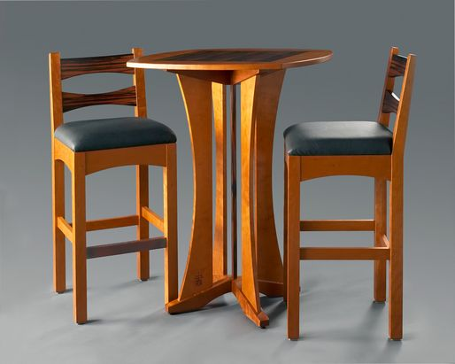 Bistro Table with Diana Bar Stools