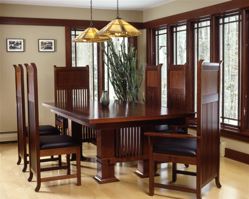 FLW Cherry Dining Set