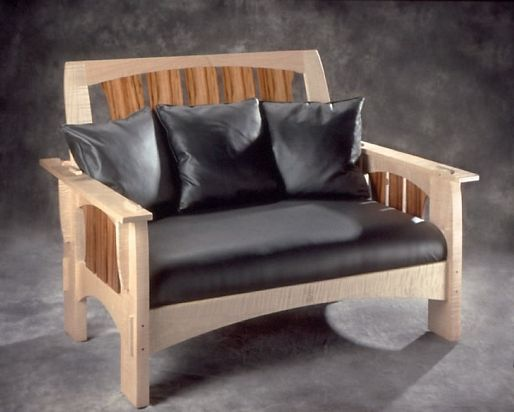Maple Double Morris Chair